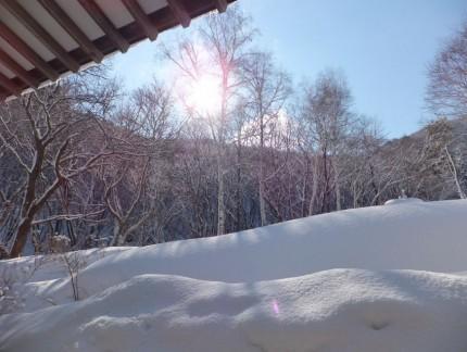 本堂よりの冬景色1